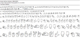 """Baixar e instalar a fonte de LIBRAS para depois escrever as palavras com as """"mãozinhas""""."""