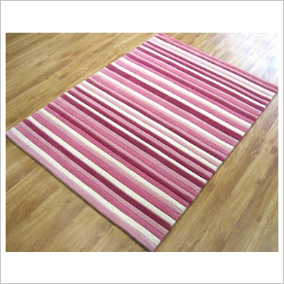 network rugs pink striped contemporary