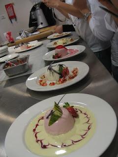 ... Cafe: IP Lesson 11 : Buttermilk Panna Cotta, Raspberry Bavarois