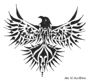animal tattoos: Tribal Eagle Tattoo Design