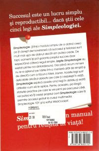 Romanian Simpleology book  backcover