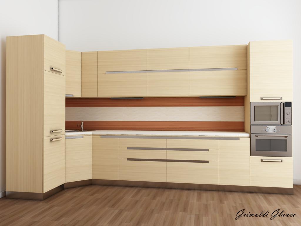 Glauco Design: Cucina in Rovere sbiancato e Ciliegio!!!
