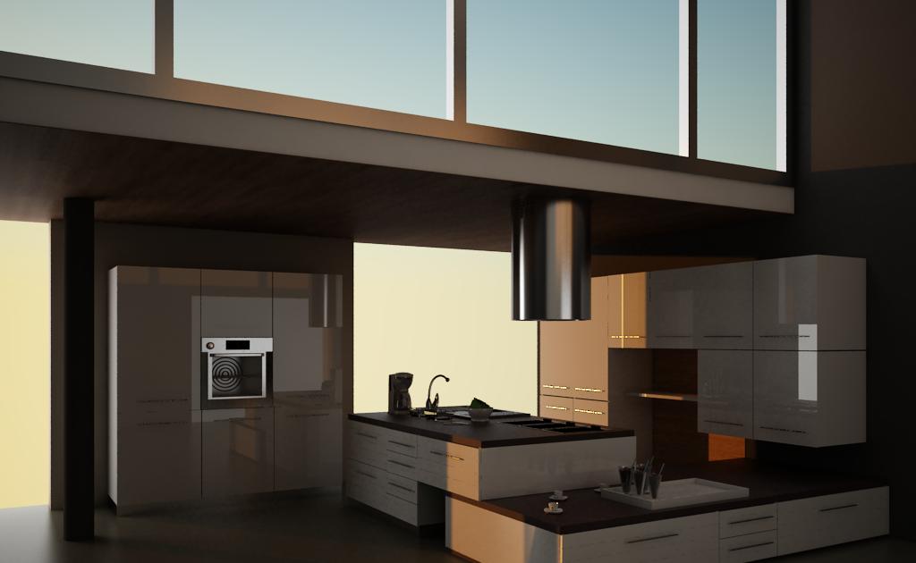 Glauco Design: Immagine 3 Cucina Wengè e bianco lucido