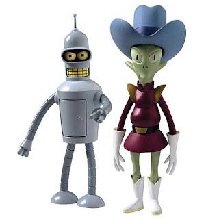 el robot Bender y Scruffy de Futurama