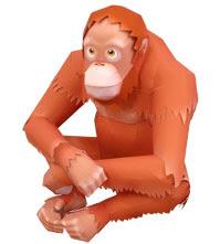 orangután de papel