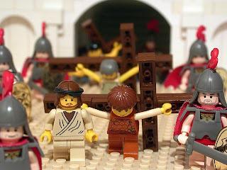jesucristo en su crucifixión, con lego