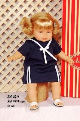 muñeca leonor vestida de marinera