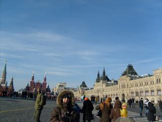 vista de parte de la plaza roja