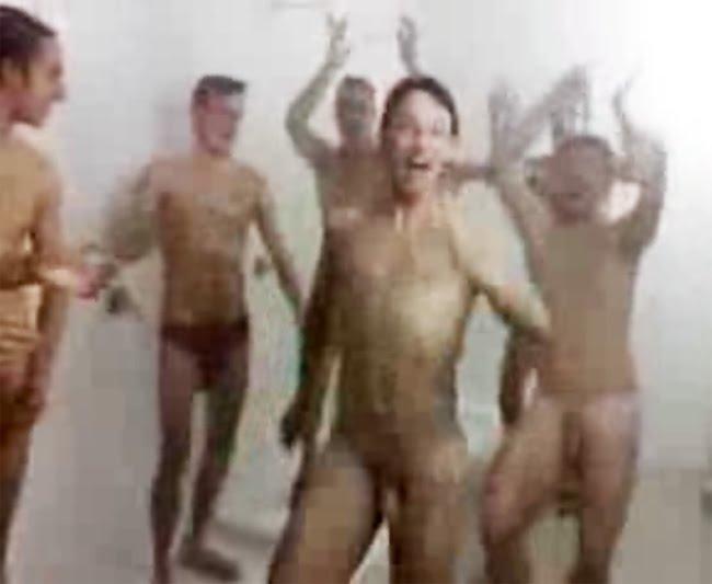 Soccer Team Shower Celebration Write Ment