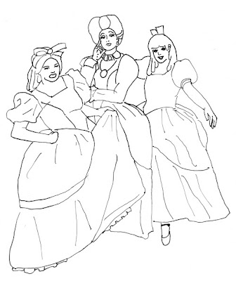 Sisters Colouring Pages
