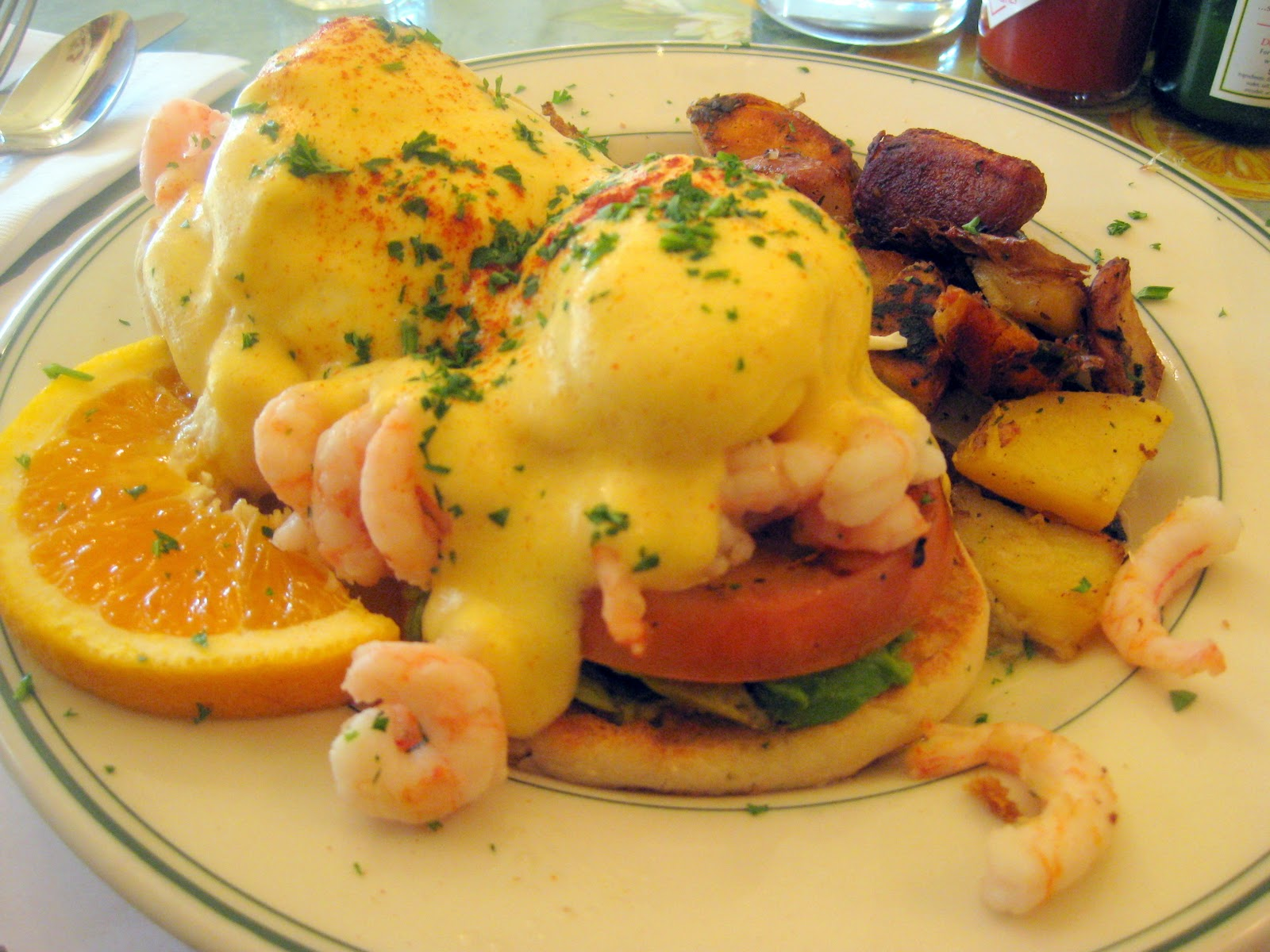 Seafood Eggs Benedict Recipe — Dishmaps