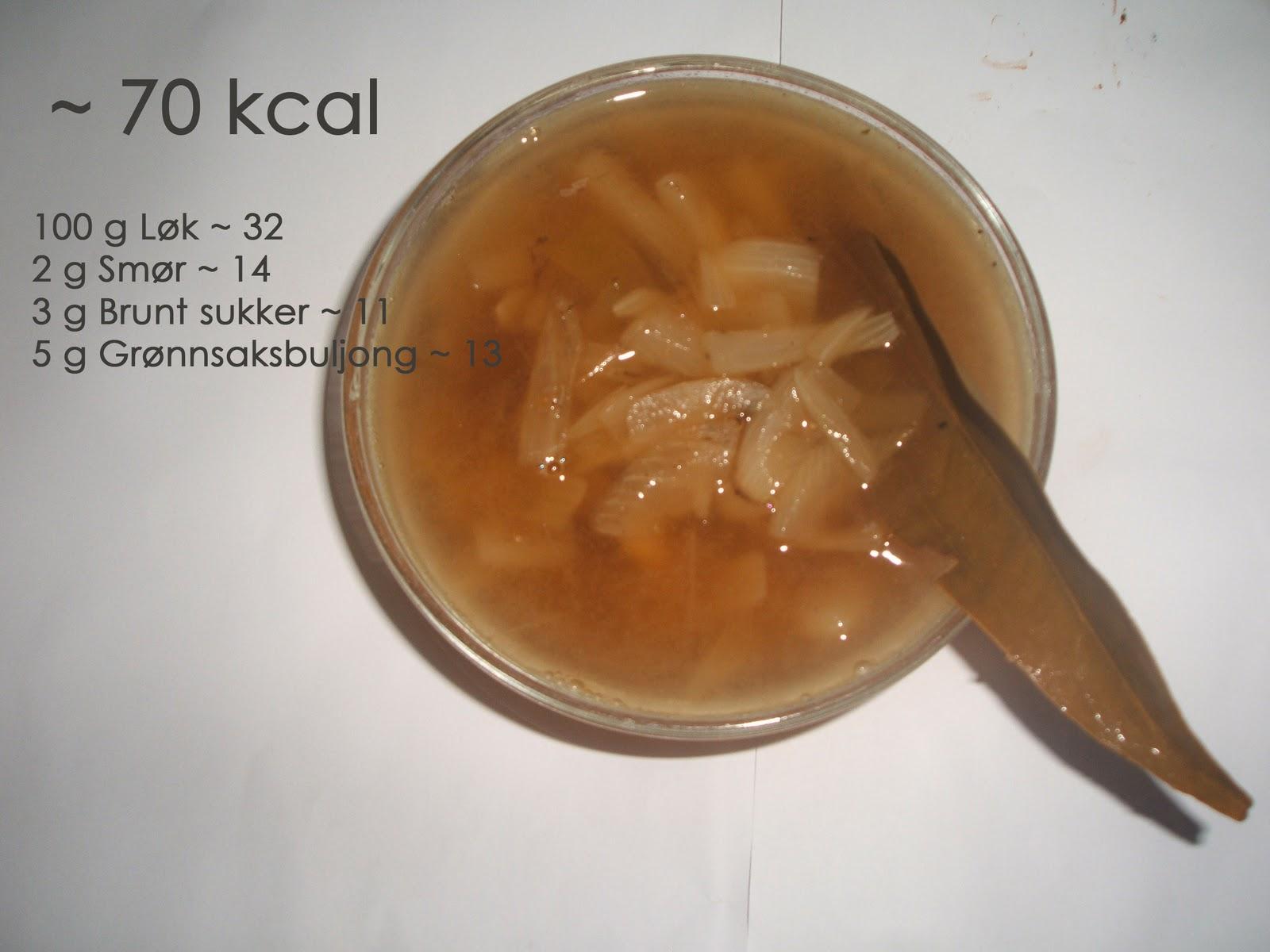 100 Kalorier Middag Fransk Løksuppe M Laurbærblad 70 Kcal