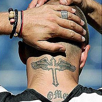 "tattoos on the neck for men. Cross Tattoos On Neck "" tattoos for Girls and Man """