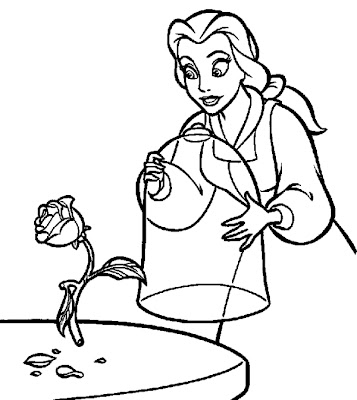Princess Belle Coloring Pages Disney Characters Ideas