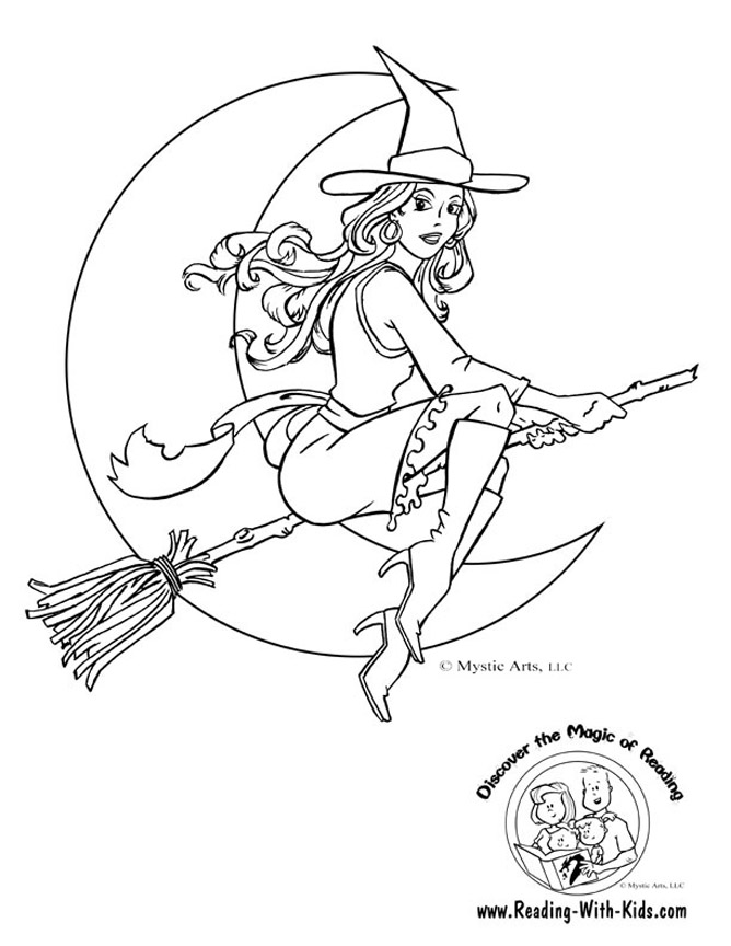 halloween witch coloring pages - photo#1