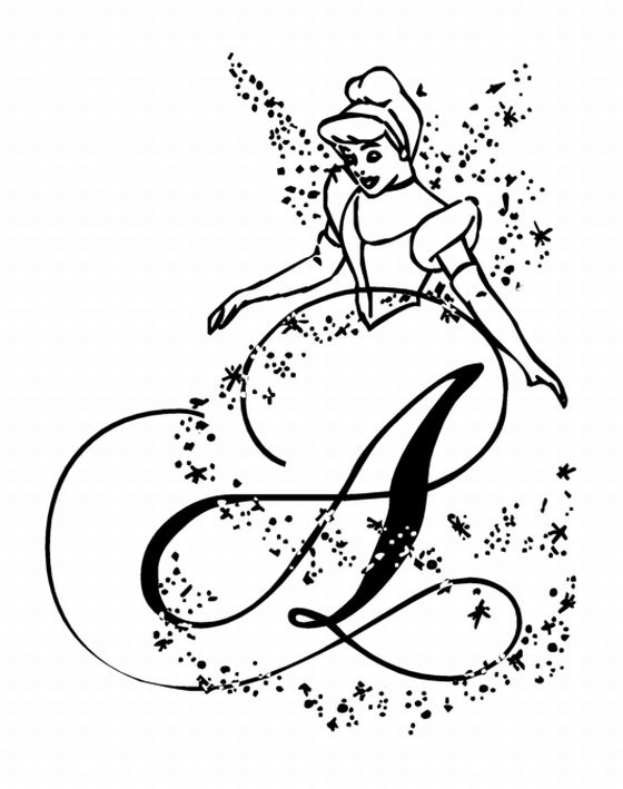 Disney Princess : Cinderella Coloring Pages title=