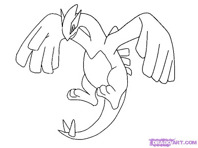 transmissionpress: Free Printable Pokemon Lugia Coloring Pages | 400 x 300 jpeg 22kB