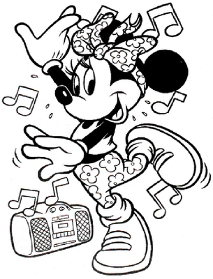 Disney Coloring Sheets on Free Mini Mouse Disney Coloring Pages