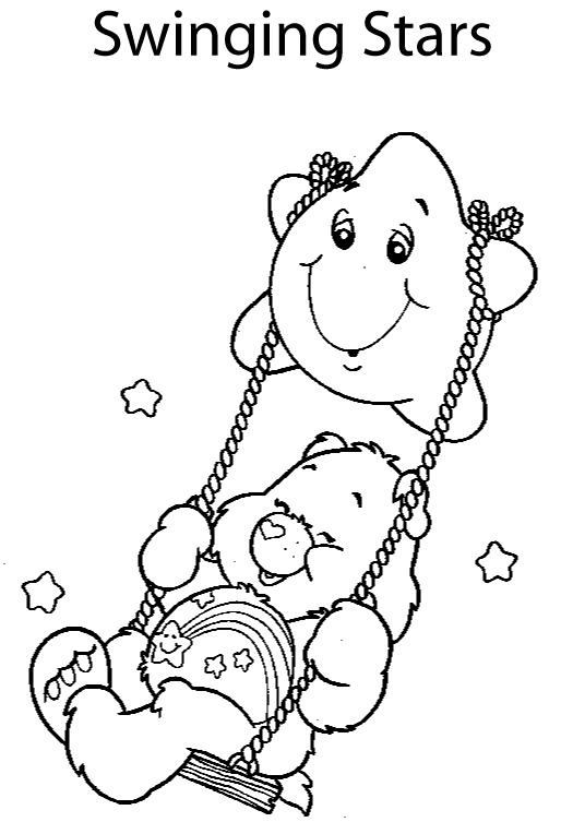 Animal coloring pages care bear cartoon for Care bears coloring pages