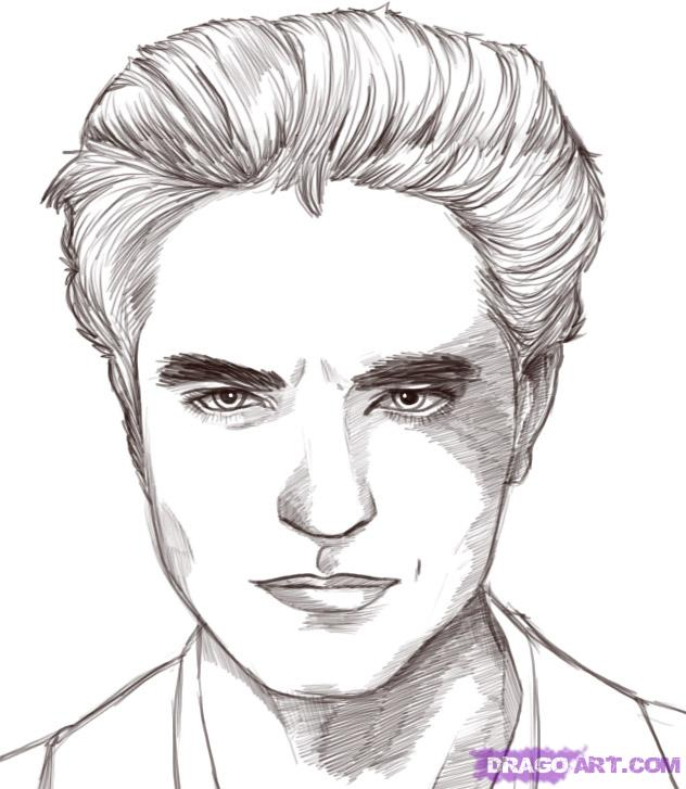 Halloween Coloring Pages: Edward Cullen \