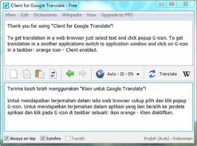 Free Download Google Translate Client v4.7.430