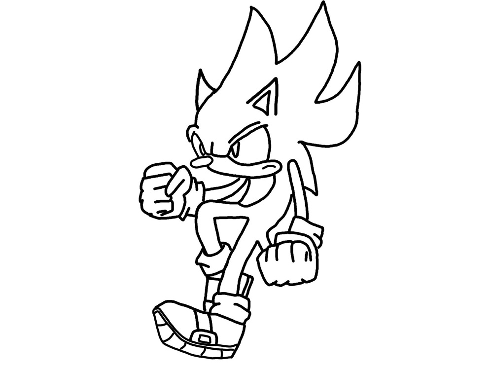 Free Printable Sonic Cartoon Coloring Pages Kids