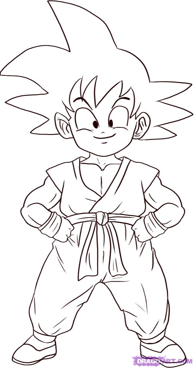 Super dragon ball z image for Dragon ball z goku coloring pages
