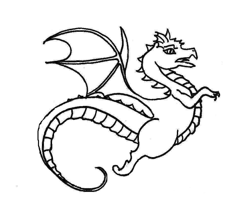 Cartoon Dragon Coloring Pages Animal Dragon Coloring Pages