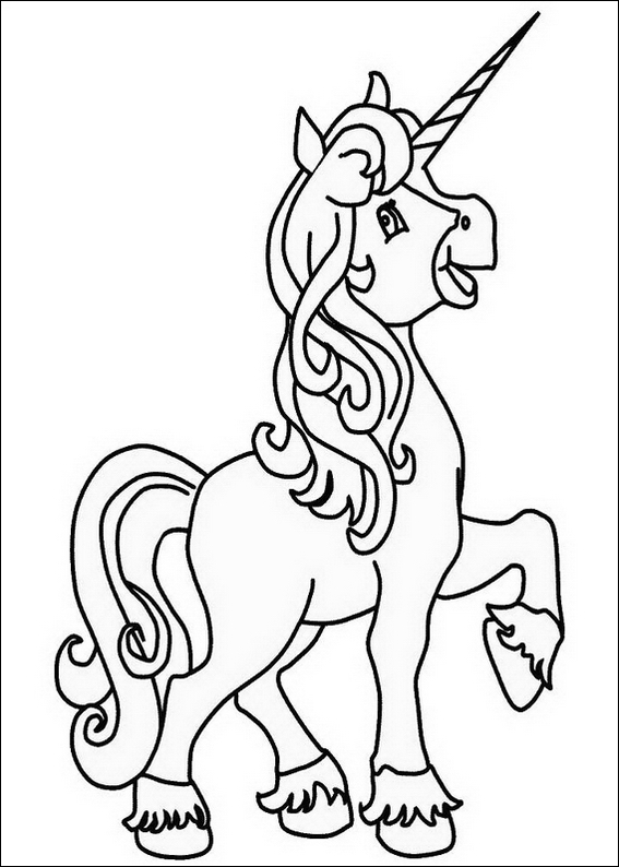 Free Printable Unicorn Coloring Pages Kids title=