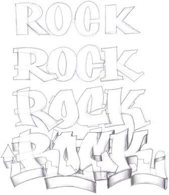 graffiti buble fonts letters design