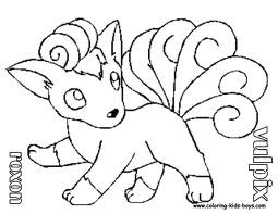 vulpix coloring pages - transmissionpress cartoon pokemon vulpix colorig pages