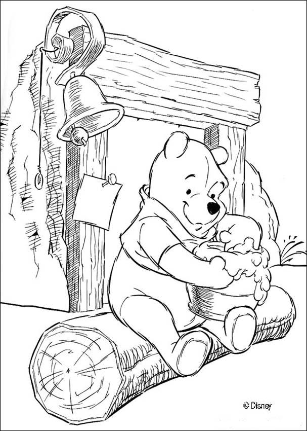 Baby Pooh Bear Coloring Pages