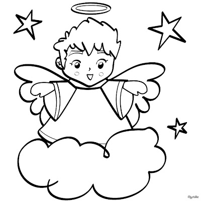 Free Printable Christmas Angel Colouring Pages Coloring