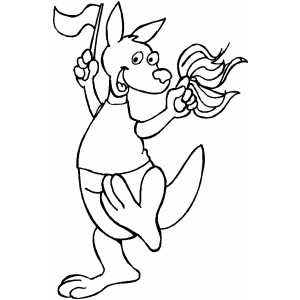 Please Enjoy This Animal Kangaroo Coloring Pages Also Give Your Comment About Ti Thanks