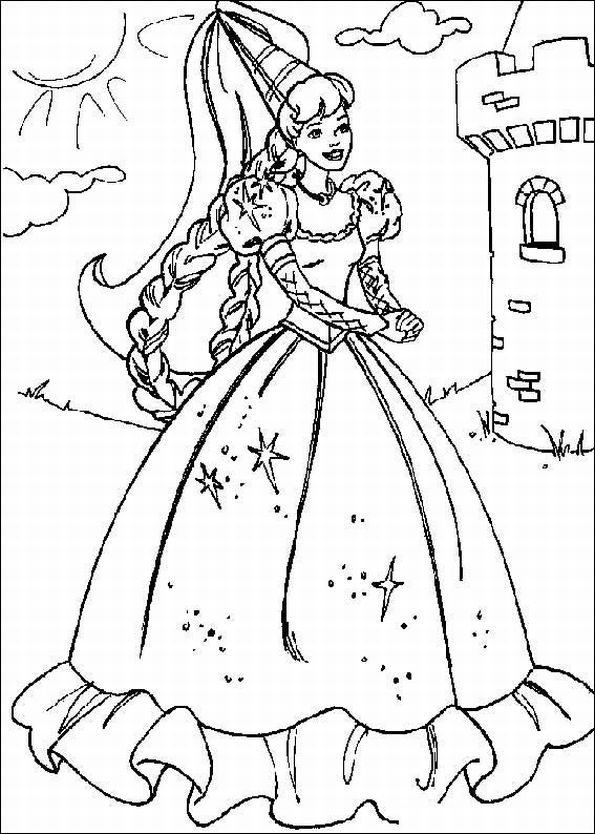 coloring pages princess barbie - photo#6