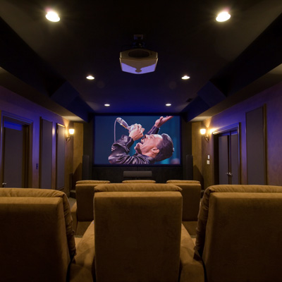 Home Theater Decorating on Luxury Home Theater Design Ideas