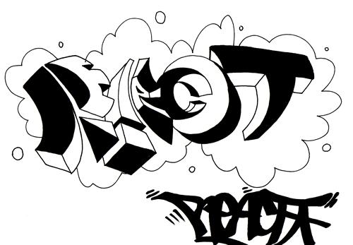 4 Graffiti Alphabet Wildstyle Sketches