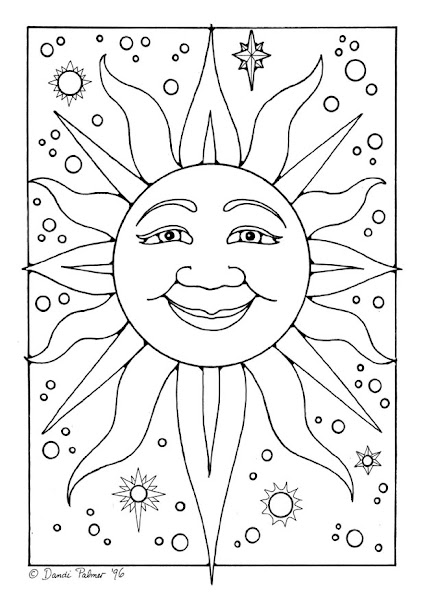 Free Printable Adult Coloring Pages Sun