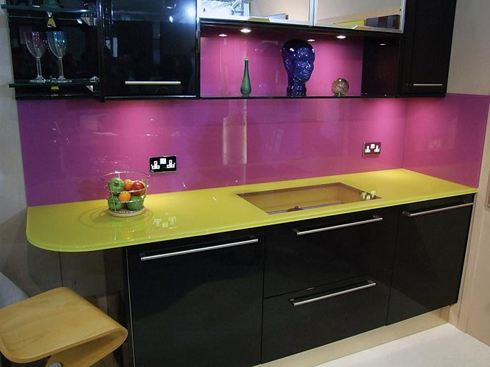 Contemporary Modern Kitchen Purple Color Design Ideas