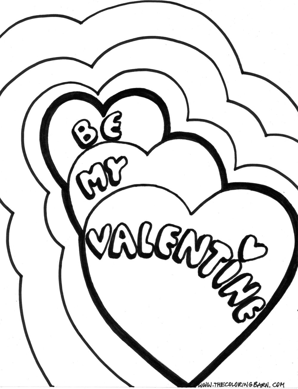 Printable Valentine Day Coloring Pages Belogseppot