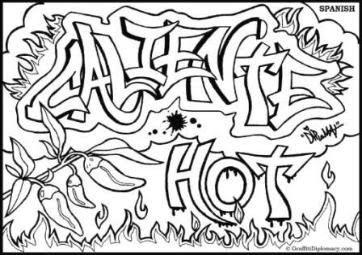 Graffiti Sketches Coloring Pages Design By Alphabet Crazy