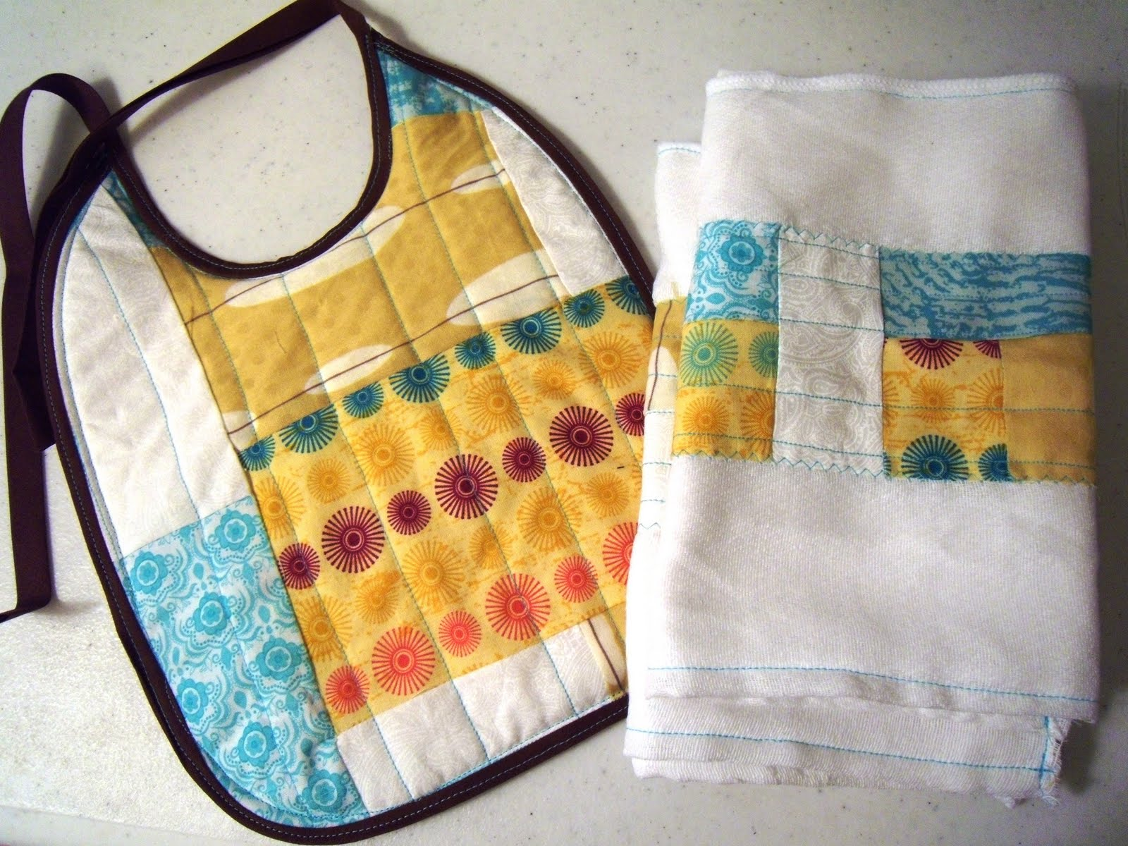 My own road quilted burp cloth tutorial quilted burp cloth tutorial baditri Image collections