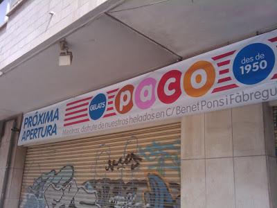 Helados Paco en Calle Blanquerna