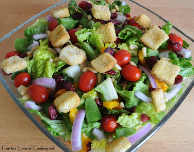 Vegetable Loaded Salad with Creamy Dill Dressing
