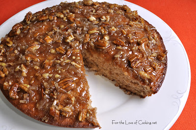 Banana Coffee Cake with Coconut Pecan Frosting