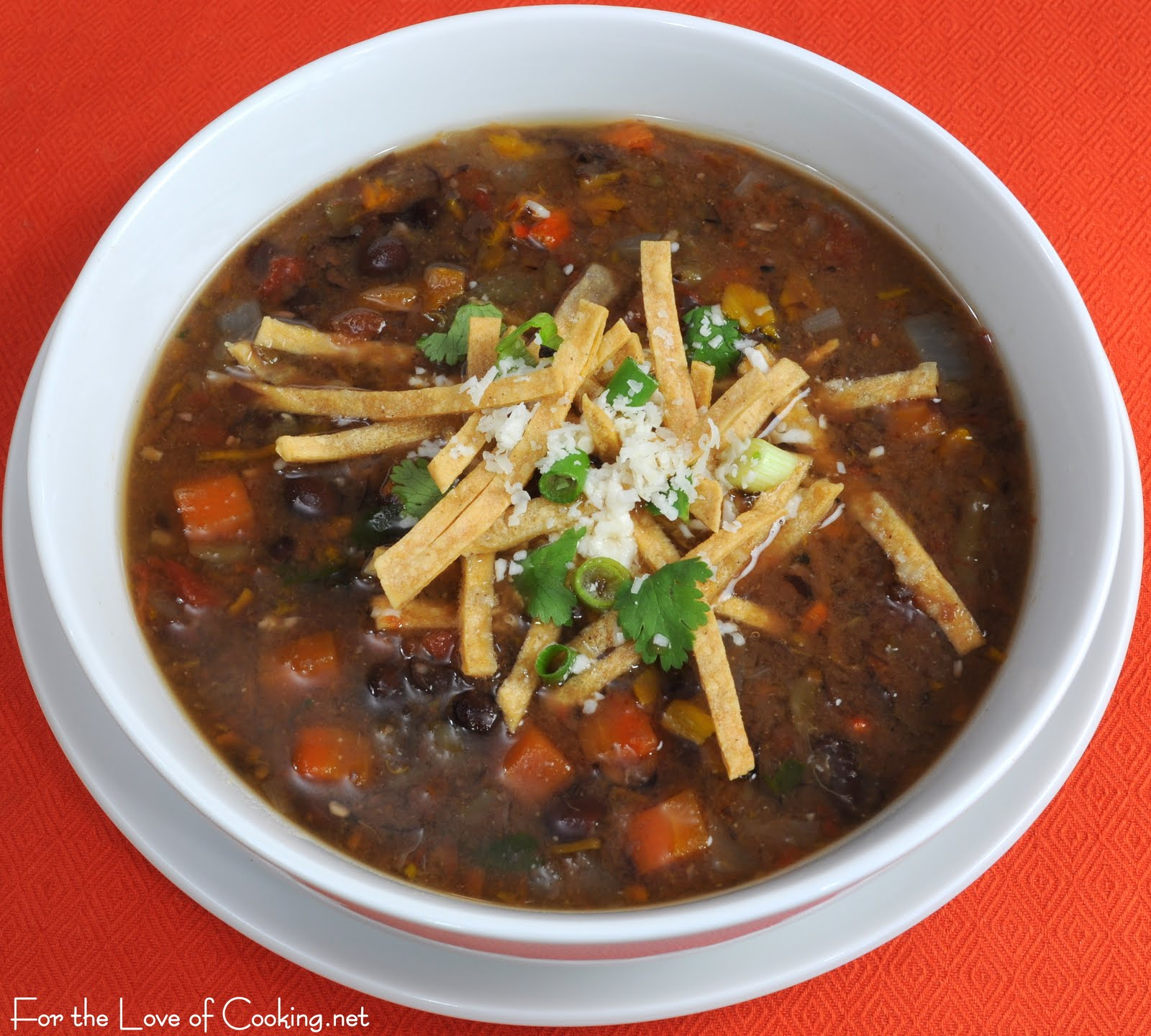 Black Bean and Roasted Anaheim Chile and Bell Pepper Soup | For the ...