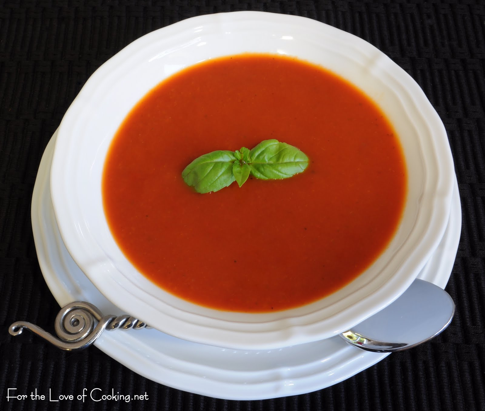 Roasted Garlic and Tomato Soup with Fresh Basil | For the Love of ...