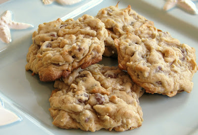 Coconut, Chocolate Chip and Almond Cookies