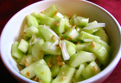 Spicy Cucumber Salad with Peanuts