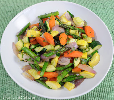 Mixed Vegetable Sauté with Fresh Basil